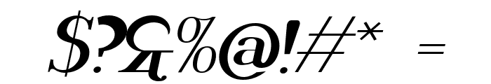 Rider Wide Expanded ExtraBlack Italic Font OTHER CHARS