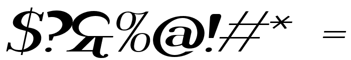 Rider Widest Ultra-expanded Light Italic Font OTHER CHARS