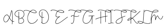 Rietha Font UPPERCASE