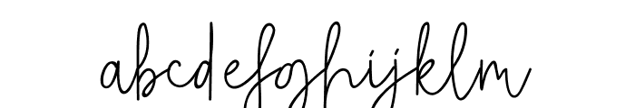 Rietha Font LOWERCASE