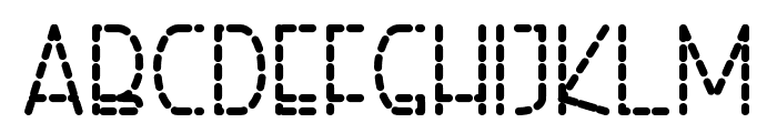 Right Hand Bold Dash Font LOWERCASE