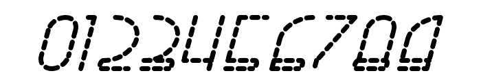 Right Hand Bold Italic Dash Font OTHER CHARS