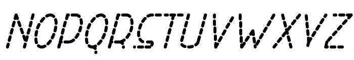 Right Hand Bold Italic Dash Font UPPERCASE