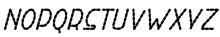 Right Hand ExtBoldItalicDash Font UPPERCASE