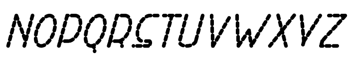 Right Hand ExtBoldItalicDash Font LOWERCASE