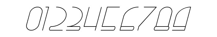 Right Hand Hairline Italic Font OTHER CHARS