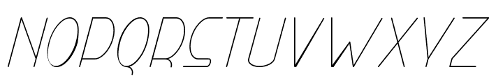 Right Hand Hairline Italic Font LOWERCASE