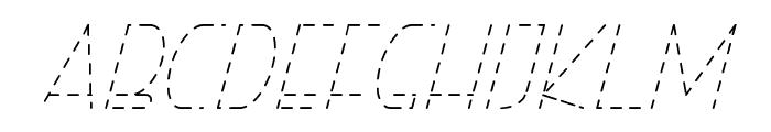 Right Hand HairlineItalicDash Font UPPERCASE