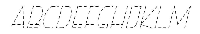 Right Hand HairlineItalicDash Font LOWERCASE
