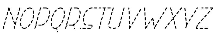 Right Hand Light Italic Dash Font UPPERCASE