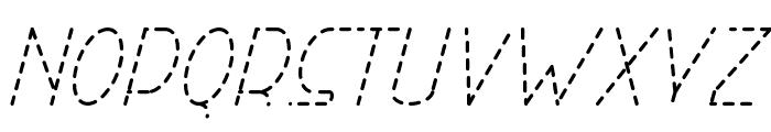 Right Hand Light Italic Dash Font LOWERCASE