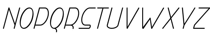 Right Hand Light Italic Font UPPERCASE