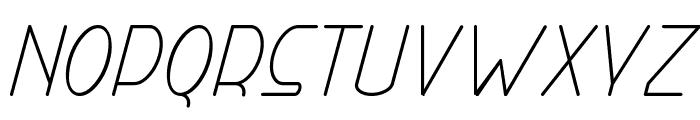 Right Hand Light Italic Font LOWERCASE