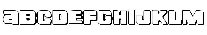 Right Hand Luke 3D Font UPPERCASE