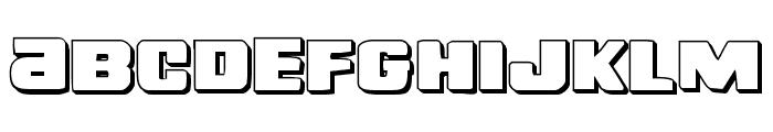 Right Hand Luke 3D Font LOWERCASE