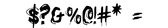 Righteous Kill Condensed Font OTHER CHARS