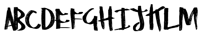 RightyMarks Font LOWERCASE