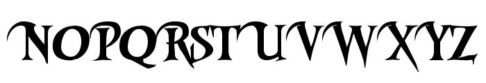 Riky Vampdator Normal Font UPPERCASE