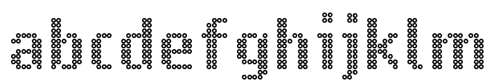 Ring Matrix Font LOWERCASE