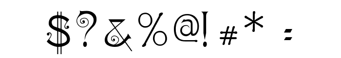 Ringlet Font OTHER CHARS