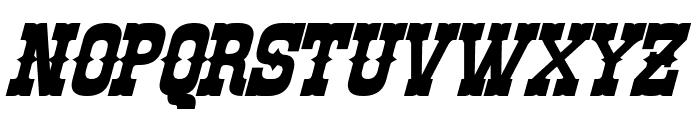 Rio Oro Bold Italic Font UPPERCASE