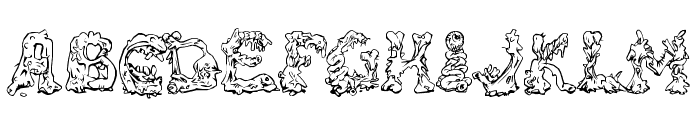 RiotActTwo-Regular Font LOWERCASE
