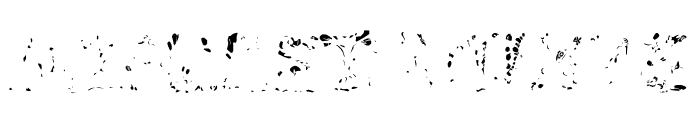 RiotActTwoGlop-Regular Font LOWERCASE