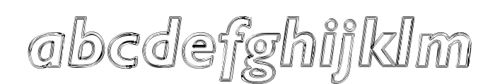 Ripplemere  ThinItalic Font LOWERCASE