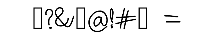 RiseStarHand Font OTHER CHARS