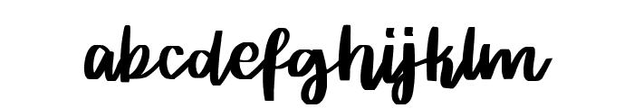 Rither Font LOWERCASE