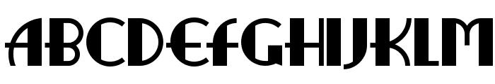RitzyRemixNF Font UPPERCASE