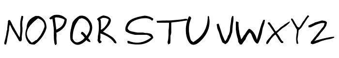 ringey Font UPPERCASE