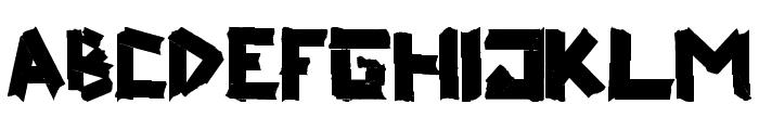 ripTAPE Font UPPERCASE