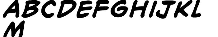 Richard Starkings Bold Italic Font LOWERCASE