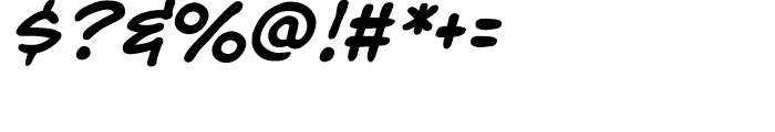 Richard Starkings Italic Font OTHER CHARS