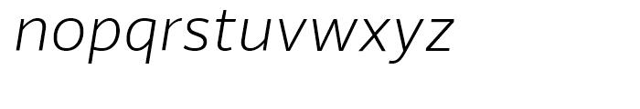 Riona Sans Extra Light Italic Font LOWERCASE