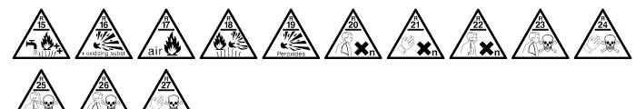 Risk Phrases Regular Font UPPERCASE