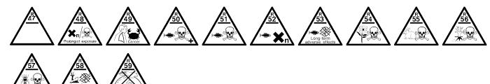 Risk Phrases Regular Font LOWERCASE