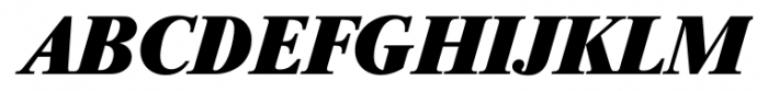 Riccione Serial Heavy Italic Font UPPERCASE