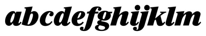 Riccione Serial Heavy Italic Font LOWERCASE