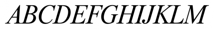 Riccione Serial Light Italic Font UPPERCASE