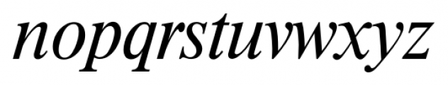 Riccione Serial Light Italic Font LOWERCASE