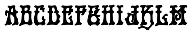 Rick Griffin  Contour Ground Font UPPERCASE