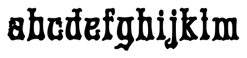 Rick Griffin  Contour Ground Font LOWERCASE