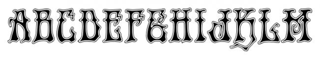 Rick Griffin  Contour Font UPPERCASE