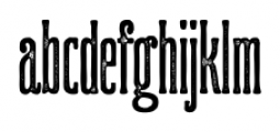 Ridewell Print Font LOWERCASE