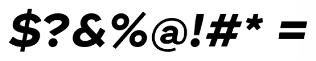 Ridley Grotesk Bold Italic Font OTHER CHARS