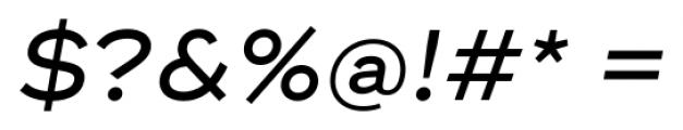Ridley Grotesk Medium Italic Font OTHER CHARS