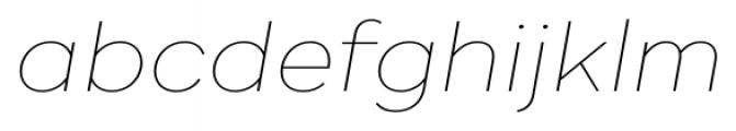 Ridley Grotesk Thin Italic Font LOWERCASE