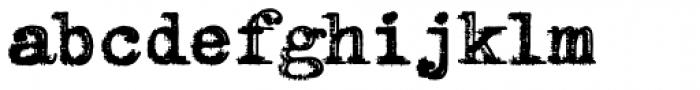 RIPTypewriter Font LOWERCASE